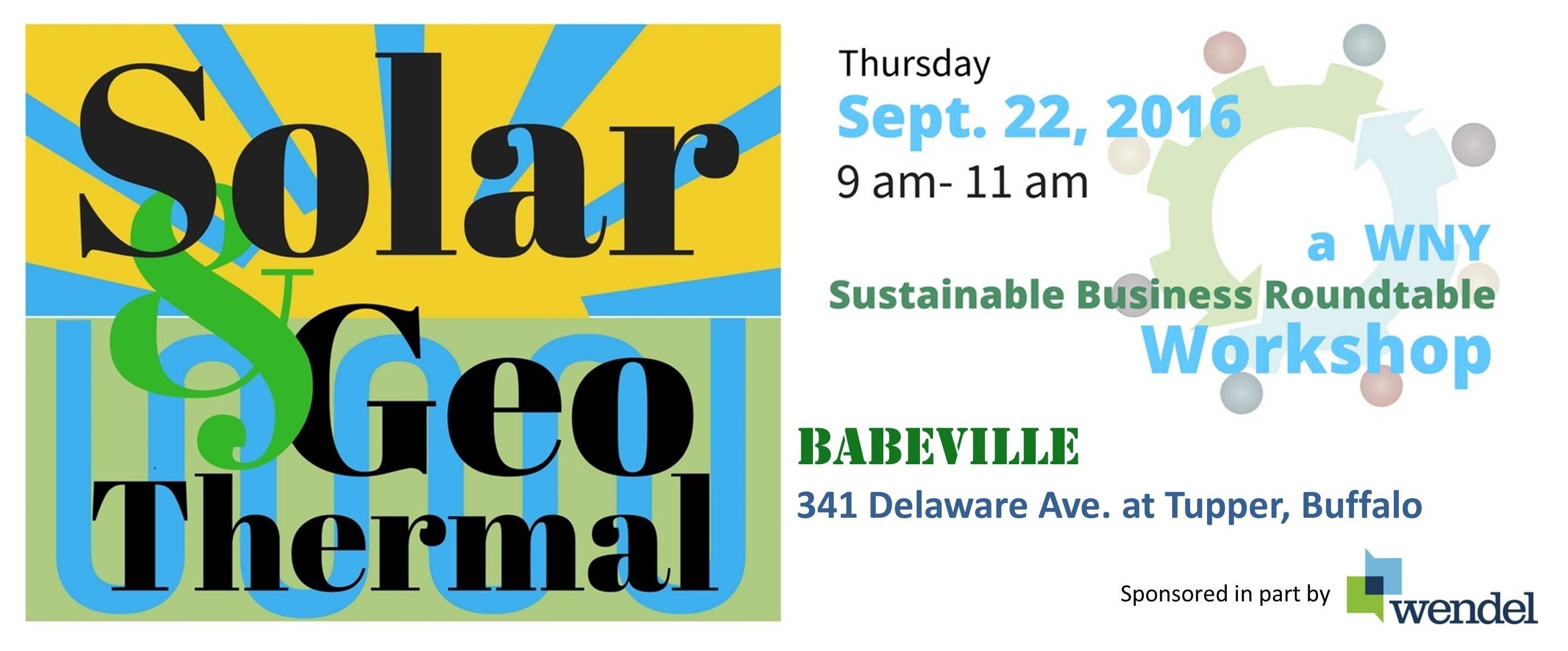 Past Events - WNY Sustainable Business Roundtable