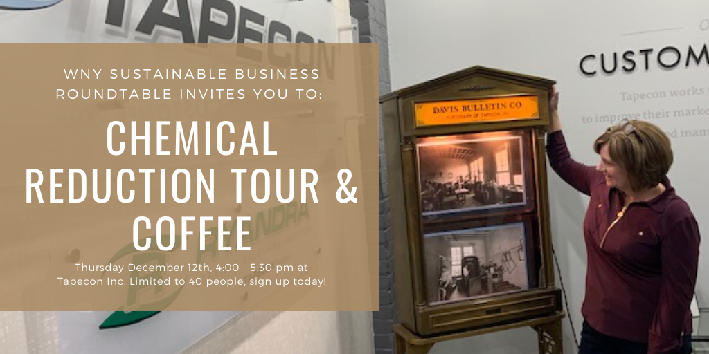 Chemical Reduction Tour at Tapecon – find out how calculating your company's chemical footprint can reduce hazardous waste!